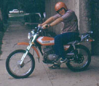 Webmaster Jim Snell and his Suzuki TS125