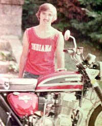 Kevin Brooks and his Honda 750